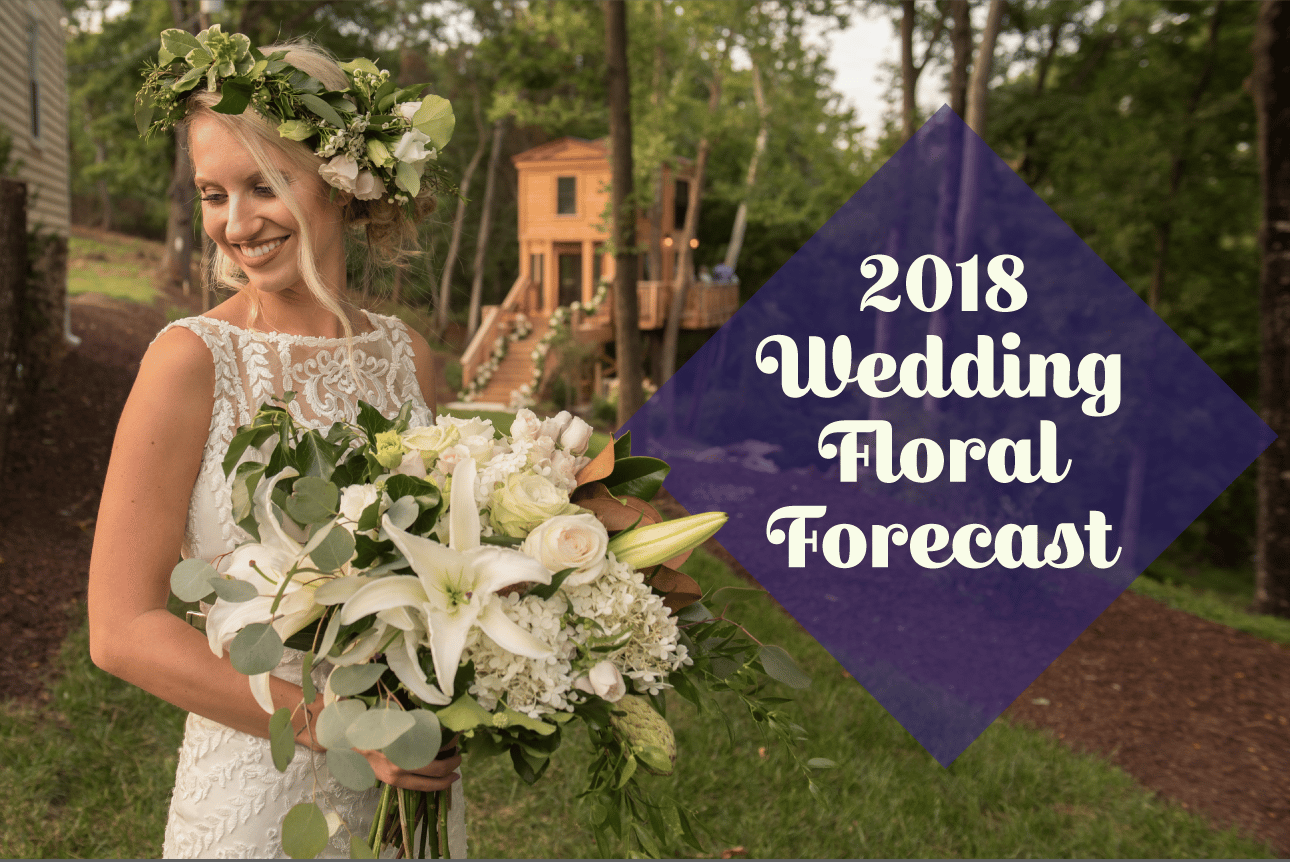 What is the future of wedding flowers? Check out the 2018 Wedding Floral Forecast from Entwined Events!